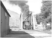 D&amp;RGW #480 crossing the Salida bridge over the Arkansas River.<br /> D&amp;RGW  Salida, CO  Taken by Horan, John F. - 7/16/1955