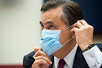 George Washington University Law School professor Jonathan Turley adjusts a mask on during a House Natural Resources Committee hearing on Monday, June 29, 2020 to discuss the recent incident with U.S. Park Police removing protesters and journalists on June 1st at St. John's Episcopal Church near the White House for President Trump to conduct a photo op.<br /> Credit: Bonnie Cash / Pool via CNP / MediaPunch