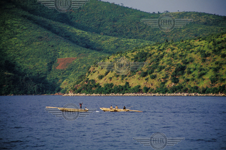 © Crispin Hughes / Panos Pictures..TANZANIA..Fishing boats on Lake Tanganyika.