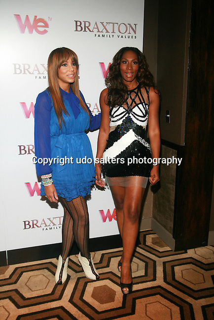 Tamar Braxton and Towanda Braxton attend Premiere Screening of BRAXTON FAMILY VALUES Season 2 Held at Tribeca Grand, NY 11/8/11