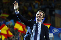 The closing of the campaign of the PP (Partido Popular) party, on Sunday the 28th are the general elections, at WiZink Center in Madrid on April 26, 2019.<br /> President of PP, Pablo Casado