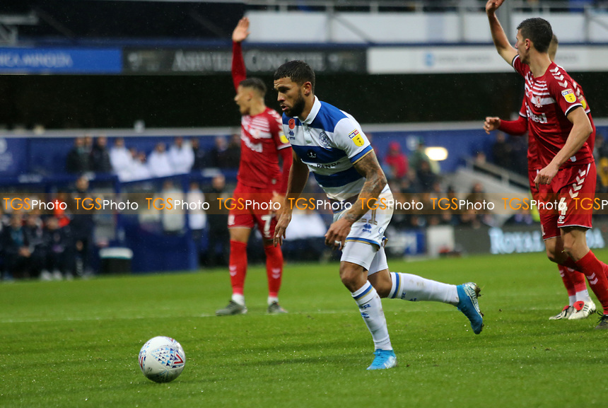 first goal scored for Queens Park Rangers by Nahki Wells of Queens Park Rangers during Queens Park Rangers vs Middlesbrough, Sky Bet EFL Championship Football at Loftus Road Stadium on 9th November 2019