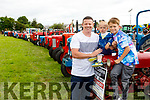Damien, Darragh and Dylan Lyons (Abbeydorney) pictured at Abbeydorney Vintage on Sunday.