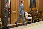 King Felipe VI of Spain receive in Royal Audience to Juan Jose Gonzalez Rivas, President Constitutional Court at Zarzuela Palace in Madrid, July 24, 2017. Spain.<br /> (ALTERPHOTOS/BorjaB.Hojas)