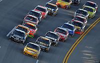Nov. 1, 2009; Talladega, AL, USA; NASCAR Sprint Cup Series driver Jamie McMurray leads the field during the Amp Energy 500 at the Talladega Superspeedway. Mandatory Credit: Mark J. Rebilas-