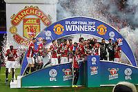 Manchester United celebrate winning the EFL Cup Final match between Manchester United and Southampton <br /> Londra Wembley Stadium Southampton vs Manchester United - EFL League Cup Finale - 26/02/2017 <br /> Foto Phcimages/Panoramic/Insidefoto