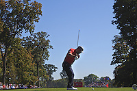 Ryan Moore (Team USA) on the 5th tee bunker during the Friday afternoon Fourball at the Ryder Cup, Hazeltine national Golf Club, Chaska, Minnesota, USA.  30/09/2016<br /> Picture: Golffile | Fran Caffrey<br /> <br /> <br /> All photo usage must carry mandatory copyright credit (&copy; Golffile | Fran Caffrey)