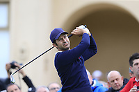 Jorge Campillo (ESP) tees off the 10th tee during Saturday's storm delayed Round 2 of the Andalucia Valderrama Masters 2018 hosted by the Sergio Foundation, held at Real Golf de Valderrama, Sotogrande, San Roque, Spain. 20th October 2018.<br /> Picture: Eoin Clarke | Golffile<br /> <br /> <br /> All photos usage must carry mandatory copyright credit (&copy; Golffile | Eoin Clarke)