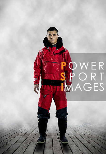 Dongfeng Race Team sailor poses during the official photo session at the Serenity Marina in Sanya, China on 21 February 2014. Photo by Victor Fraile / Power Sport Images