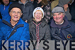 Enjoying the South Kerry Final in Waterville on Christmas Eve were l-r; Thomas Costello, Eileen O'Meara & Sonny Egan.