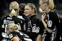 EHF Champions League Handball Damen / Frauen / Women - HC Leipzig HCL : SD Itxako Estella (spain) - Arena Leipzig - Gruppenphase Champions League - im Bild: Natalie Augsburg. Foto: Norman Rembarz .