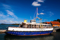 Norway, Inderøy. Kjerknesvågen harbour. The old Stoksund ferry.