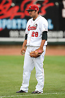 Great Lakes Loons pitcher Steve Smith during a game vs. the Dayton Dragons at Dow Diamond in Midland, Michigan August 19, 2010.   Great Lakes defeated Dayton 1-0.  Photo By Mike Janes/Four Seam Images