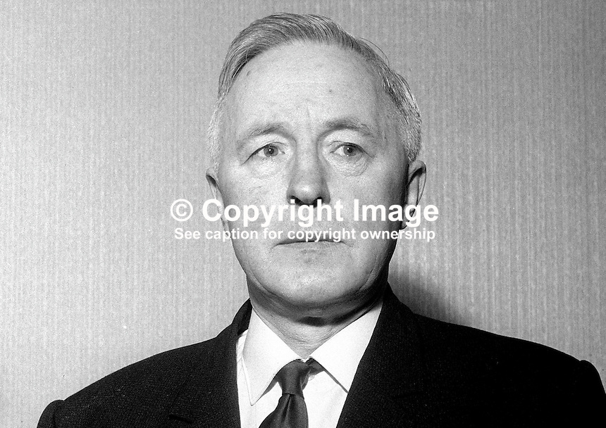 John McInerny aka John McInerney, 555 Falls Road, Belfast, N Ireland, prominent member, N Ireland Civil Rights Association, NICRA, taken Jan 1969. 196901000187b<br />
