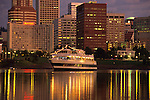 Spirit of Portland Cruise Ship on the Willamette River at Night