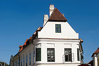 Kreszto House, 1 Apåca Ut. The Kreszto House, Classicsist House and museum of artist  Margrit Kocåcs Life-work.- ( Gy?r )  Gyor Hungary