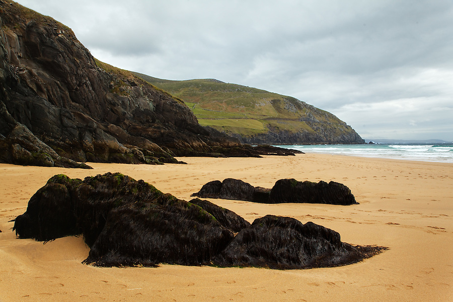 Coumeenole Beach, a key filming location for the film Ryan's Daughter, Dunmore Head, near Slea Head, Dingle Peninsula, County Kerry, Republic of Ireland