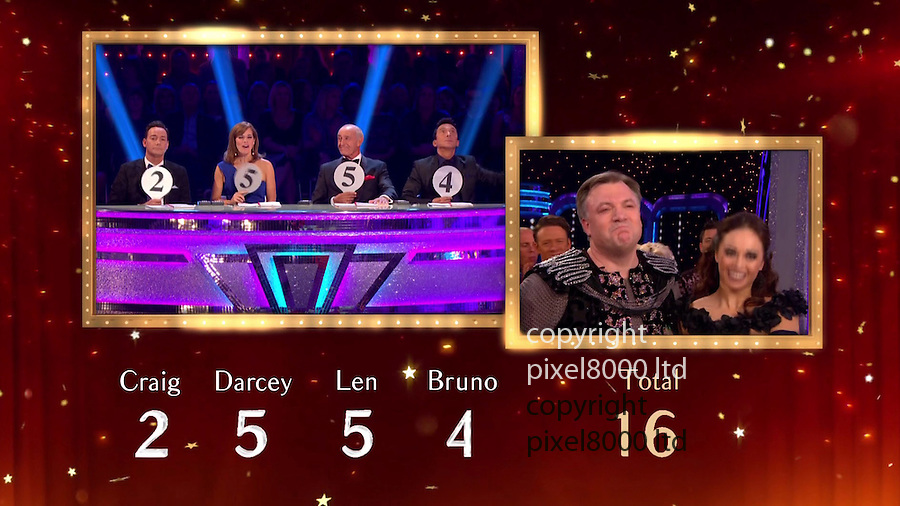 Pic  shows: BBC Strictly Come Dancing 2016<br /> <br /> Goodknight from him.<br /> <br /> Dressed as a knight<br /> <br /> Ed Balls gets panned by the judges for his latest effort of Paso Doble  - getting a 2 from Craig.<br /> <br /> <br /> Picture by Pixel8000 07917221968
