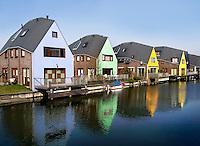 Huizen in de Eilandenbuurt in Almere