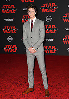 Milo Manheim at the world premiere for &quot;Star Wars: The Last Jedi&quot; at the Shrine Auditorium. Los Angeles, USA 09 December  2017<br /> Picture: Paul Smith/Featureflash/SilverHub 0208 004 5359 sales@silverhubmedia.com
