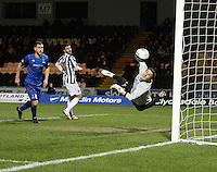 Antonio Ruguero is beaten and can only watch the ball going in the net in the St Mirren v Inverness Caledonian Thistle Clydesdale Bank Scottish Premier League match played at St Mirren Park, Paisley on 30.1.13.