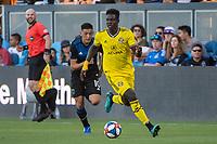 San Jose, CA - Saturday August 03, 2019: Aboubacar Keita #30 in a Major League Soccer (MLS) match between the San Jose Earthquakes and the Columbus Crew at Avaya Stadium.