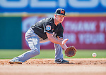 7 March 2016: Miami Marlins infielder Justin Bohn warms up prior to a Spring Training pre-season game against the Washington Nationals at Space Coast Stadium in Viera, Florida. The Nationals defeated the Marlins 7-4 in Grapefruit League play. Mandatory Credit: Ed Wolfstein Photo *** RAW (NEF) Image File Available ***