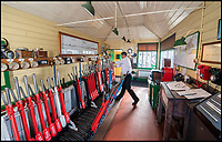 BNPS.co.uk (01202)558833<br /> Pic: PhilYeomans/BNPS<br /> <br /> Skill shortage - Young volunteers are needed to man the signal boxes as well as the engines.<br /> <br /> Growth Industry - Britain's enduring love affair with steam trains has led to a critical shortage of drivers, 56 years after the infamous Beeching Axe was supposed to have fallen.<br /> <br /> More steam train's are running today than at anytime since Dr Beechings drastic cut in 1963 - with over 150 steam heritage railways and museums attracting 13 million visitors a year.<br /> <br /> One of the most popular heritage railways in the country has put out an SOS for steam drivers - as so many of its stalwarts are retiring.<br /> <br /> Swanage Railway in Dorset has 42 steam drivers on their books, but the majority are in their 60s or older and likely to step down in the coming years.<br /> <br /> They need to train up to 40 drivers over the next five years to replace them and meet their expanding service, which attracts over 200,000 visitors each year.<br /> <br /> To fill the void, a group of enthuisastic young volunteers are being taught the skill, a process which can take up to a decade.<br /> <br /> The Heritage Railway Association, which oversees them, says some of their railways have a 'more pressing need for new blood'.