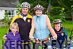 Maria, Denis, Annie and Kieran Jones Currow  the Castleisland Day Care centre cycle on Sunday