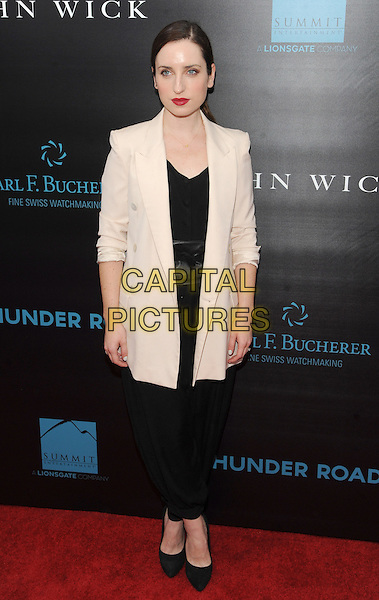 New York, NY- October 13:Zoe Lister Jones attends the Summit Entertainment and Thunder Road Pictures New York screening of John Wick at the Regal Union Square on October 13, 2014 in New York City.  <br /> CAP/RTNSTV<br /> &copy;RTNSTV/MPI/Capital Pictures