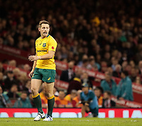 Australia's Bernard Foley<br /> <br /> Photographer Simon King/CameraSport<br /> <br /> International Rugby Union - 2017 Under Armour Series Autumn Internationals - Wales v Australia - Saturday 11th November 2017 - Principality Stadium - Cardiff<br /> <br /> World Copyright &copy; 2017 CameraSport. All rights reserved. 43 Linden Ave. Countesthorpe. Leicester. England. LE8 5PG - Tel: +44 (0) 116 277 4147 - admin@camerasport.com - www.camerasport.com