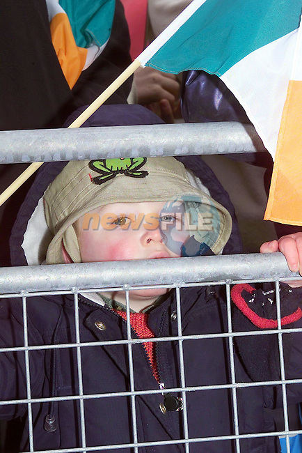 Cormac Birch having a look at the parade ..Picture Fran Caffrey Newsfile.