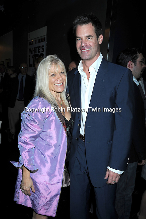 """Ilene Kristen and Tuc Watkins at The opening night of """"White's Lies"""" on May 6, 2010 at New World Stages in New York City. The show stars Betty Buckley, Tuc Watkins, Peter Scolari and Christy Carlson Romano."""
