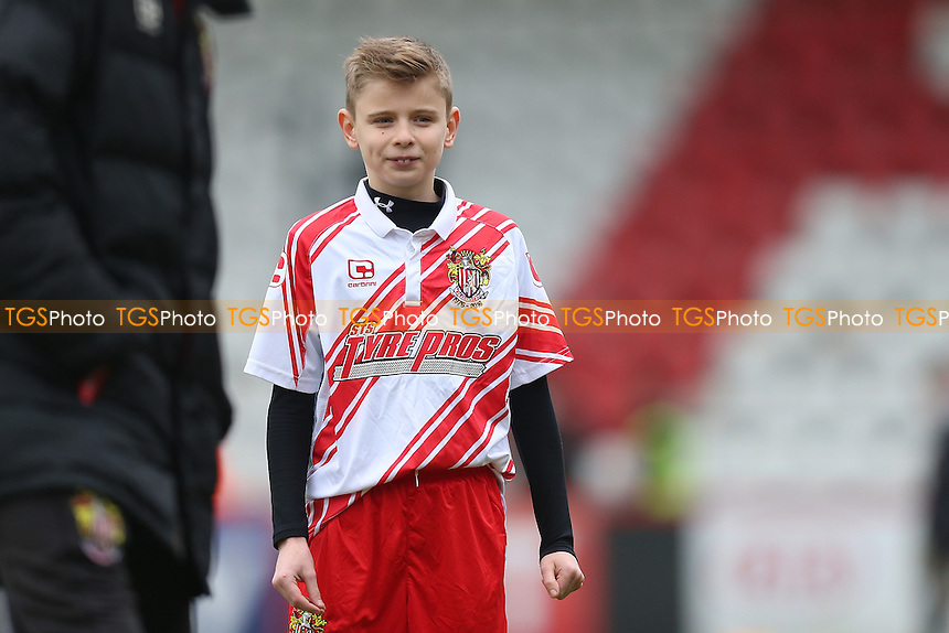 Stevenage mascot during Stevenage vs Newport County, Sky Bet EFL League 2 Football at the Lamex Stadium on 7th January 2017