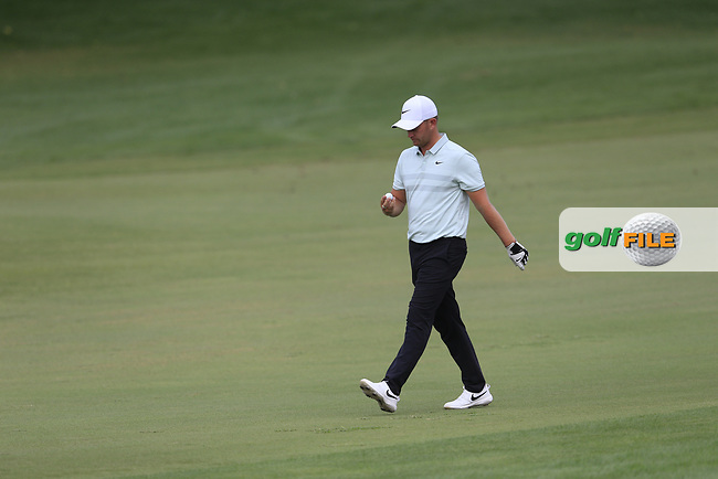Tom Lewis (ENG) on the 10th fairway during the 3rd round of the DP World Tour Championship, Jumeirah Golf Estates, Dubai, United Arab Emirates. 17/11/2018<br /> Picture: Golffile | Fran Caffrey<br /> <br /> <br /> All photo usage must carry mandatory copyright credit (&copy; Golffile | Fran Caffrey)