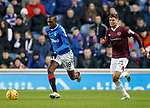 01.12.2019 Rangers v Hearts: Glen Kamara and Jamie Brandon