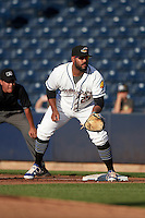 Akron RubberDucks first baseman Nellie Rodriguez (25) during a game against the Richmond Flying Squirrels on July 26, 2016 at Canal Park in Akron, Ohio .  Richmond defeated Akron 10-4.  (Mike Janes/Four Seam Images)