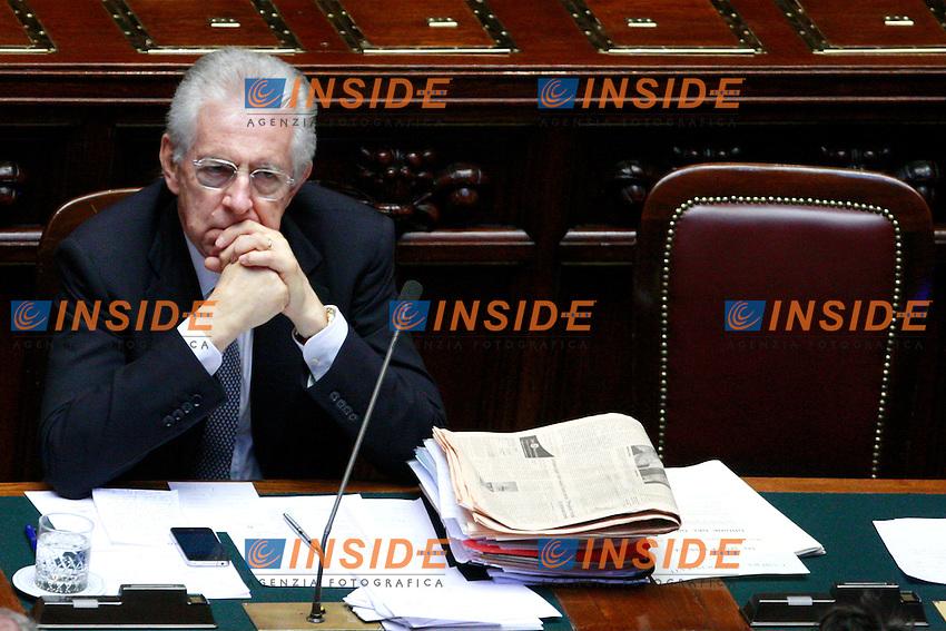 Mario Monti.Roma 13/06/2012 Camera. Informativa urgente del Premier sul Consiglio Europeo del 28 Giugno..Photo Samantha Zucchi Insidefoto
