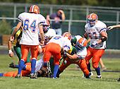 Attica Blue Devils varsity football against the Alexander Trojans at Alexander High School on September 5, 2009 in Alexander, NY.  (Copyright Mike Janes Photography)