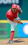 18 June 2006: Gary Majewski, pitcher for the Washington Nationals, in action against the New York Yankees at RFK Stadium, in Washington, DC. The Nationals defeated the Yankees 3-2 in the third game of the interleague series...Mandatory Photo Credit: Ed Wolfstein Photo...