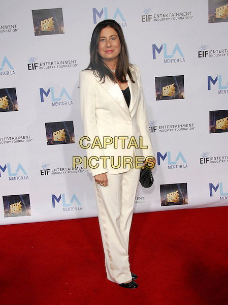 PAULA WAGNER .Attends The Mentor L.A. Promise Gala honoring Tom Cruise at The Twentieth Century Fox Studios stage 5 in Century City, California, USA..March 22nd, 2007     .full length suit trousers jacket black clutch purse .CAP/DVS.©Debbie VanStory/Capital Pictures