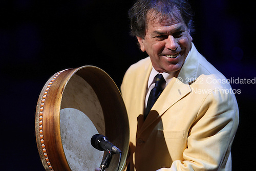 New York, NY - September 9, 2009 -- Mickey Hart performs at a tribute to the late television journalist Walter Cronkite on September 9, 2009 at Lincoln Center in New York City. Numerous dignitaries attended the morning memorial service for the former CBS anchorman who died in July.  .Credit: Spencer Platt / Pool via CNP