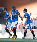 Bruno Alves celebrates with Graham Dorrans