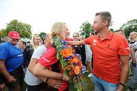 KAATSEN: WEIDUM: 23-08-2017, Dames PC, winnende drietal Louise Krol, Imke van der Leest en Sjanet Wijnia, ©foto Martin de Jong