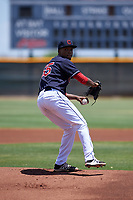 AZL Indians Blue starting pitcher Daritzon Feliz (55) during an Arizona League game against the AZL Indians Red on July 7, 2019 at the Cleveland Indians Spring Training Complex in Goodyear, Arizona. The AZL Indians Blue defeated the AZL Indians Red 5-4. (Zachary Lucy/Four Seam Images)