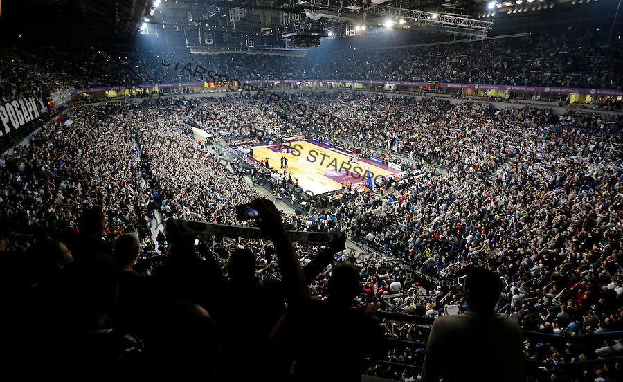 BELGRADE, SERBIA - JANUARY 02: General overwiev of Kombank Arena during the 2013-2014 Turkish Airlines Euroleague Top 16 game between Partizan Belgrade and Real Madrid at Kombank Arena on January 02, 2014 in Belgrade, Serbia.  (Photo by Srdjan Stevanovic/Getty Images)