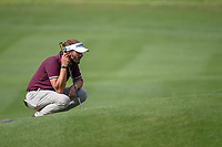 Joost Luiten (NED) lines up his putt on 1 during day 1 of the Valero Texas Open, at the TPC San Antonio Oaks Course, San Antonio, Texas, USA. 4/4/2019.<br /> Picture: Golffile | Ken Murray<br /> <br /> <br /> All photo usage must carry mandatory copyright credit (© Golffile | Ken Murray)