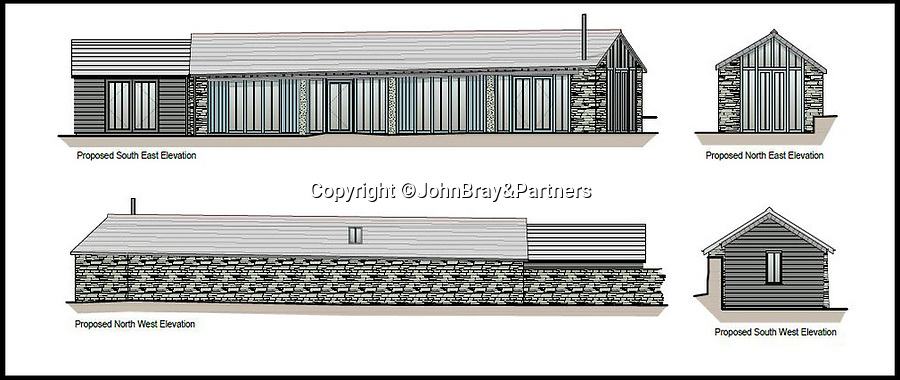 BNPS.co.uk (01202 558833)<br /> Pic:   JohnBray&Partners/BNPS<br /> <br /> Right Mooooove?.....<br /> <br /> Drawings of the proposed property.<br /> <br /> A dilapidated stone cow shed that has no front or side walls has gone on the market for a staggering £150,000.<br /> <br /> That is because the ruined barn has planning permission to turn it into a two bedroom cottage in a desirable part of Cornwall.<br /> <br /> The ramshackle outbuilding is on the edge of a farm in the village of Chapel Amble which is just five miles from the trendy resort of Rock.