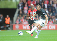 Burnley's Chris Wood<br /> <br /> Photographer Kevin Barnes/CameraSport<br /> <br /> The Premier League - Southampton v Burnley - Sunday August 12th 2018 - St Mary's Stadium - Southampton<br /> <br /> World Copyright &copy; 2018 CameraSport. All rights reserved. 43 Linden Ave. Countesthorpe. Leicester. England. LE8 5PG - Tel: +44 (0) 116 277 4147 - admin@camerasport.com - www.camerasport.com