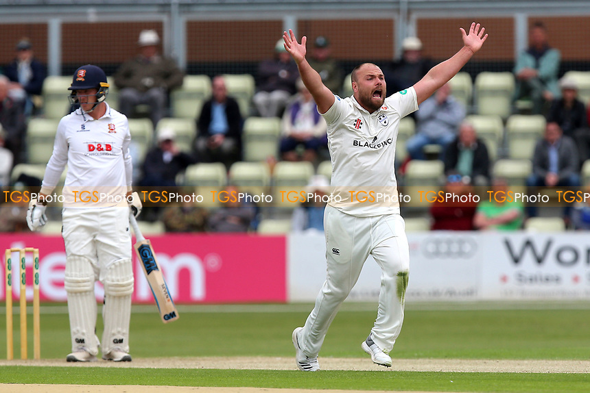 Joe Leach of Worcestershire appeals for the wicket of Tom Westley during Worcestershire CCC vs Essex CCC, Specsavers County Championship Division 1 Cricket at Blackfinch New Road on 11th May 2018